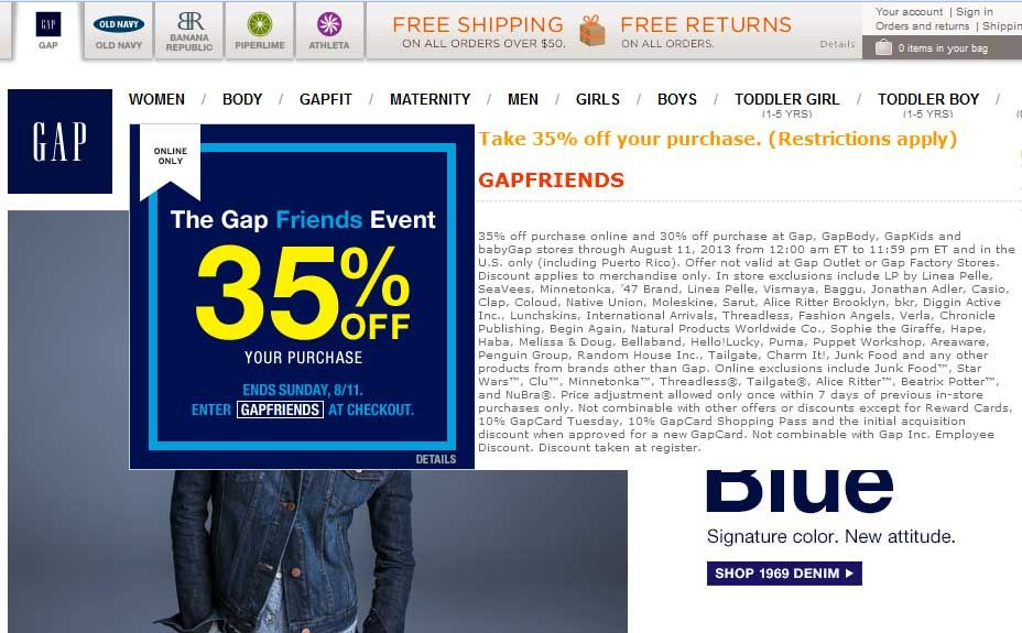 Pinned August 10th 30 Off At Gap Or 35 Online Via Promo Code Gapfriends Coupon Via The Coupons App Coupon Apps Gap Gap Fit
