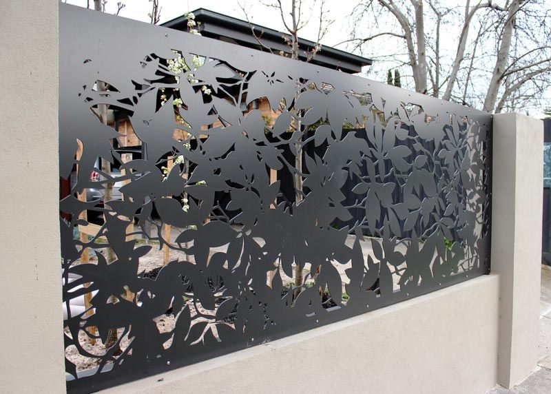 Laser Lightning Decorative Laser Cut Metal Panels Gate