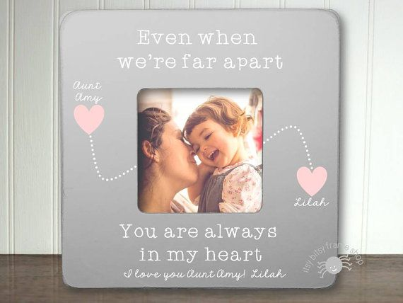 Aunt Picture Frame Long Distance Gift for by itsybitsyframeshop ...
