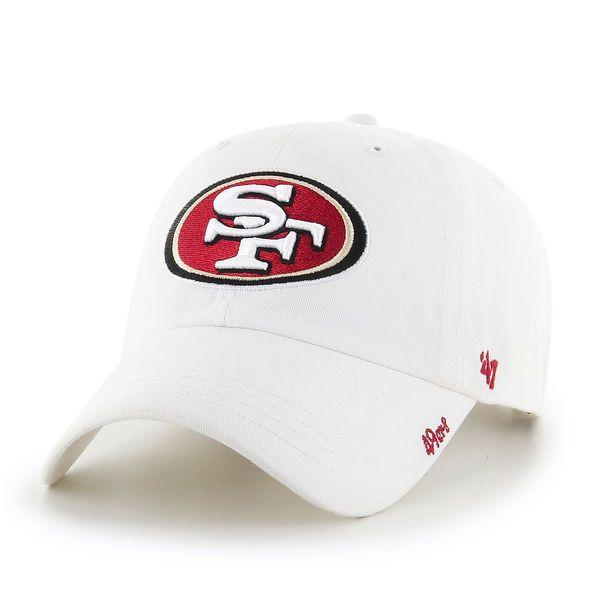 d950f10cb80d6 Women s San Francisco 49ers  47 White Miata Clean Up Adjustable Hat ...