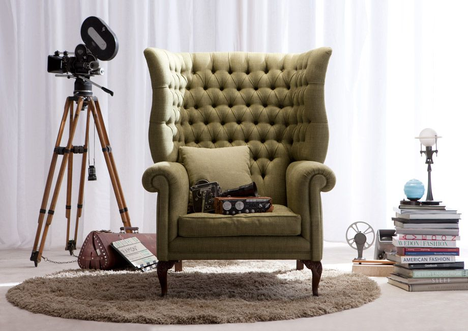 The Kingdom Armchair by Berto Salotti Italy Chesterfield