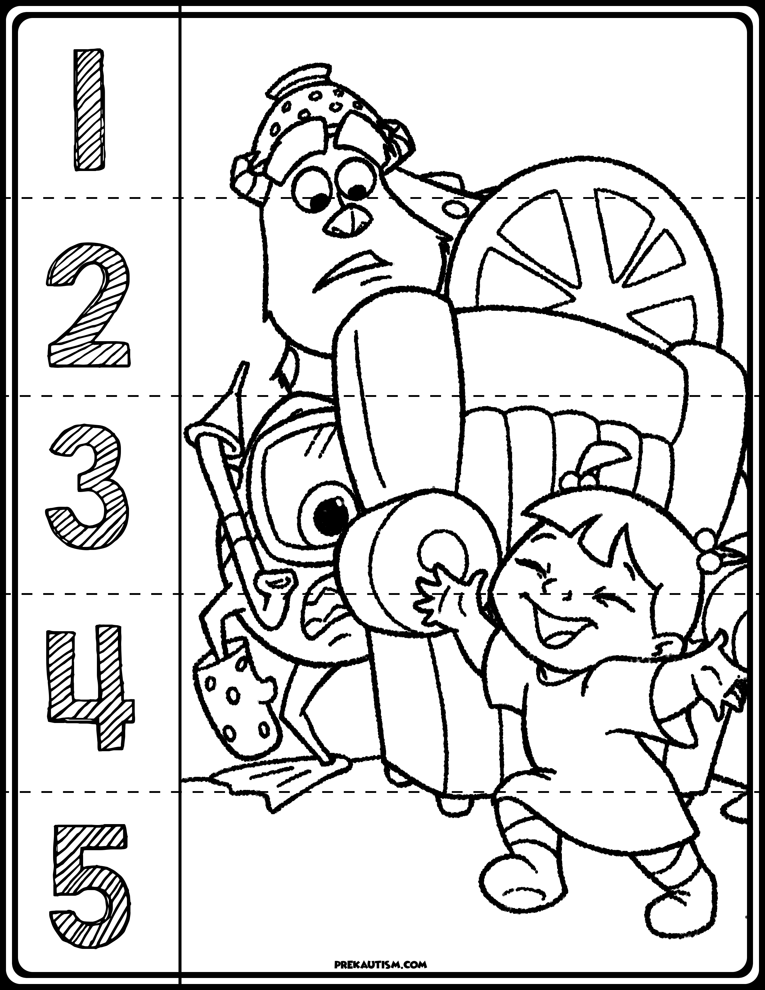 Monster Inc Number Puzzles