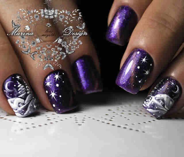 70+ Christmas and Holiday Nail Art Design Ideas #holidaynails