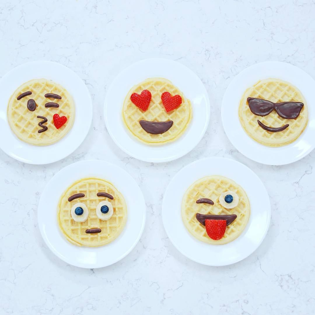 How To Make Emoji Eggo Waffles Fun Kids Food Nerdy Nummies Birthday Breakfast
