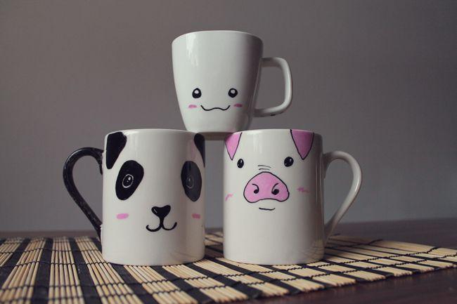 DIY // Tassen bemalen  Tassen bemalen, Tassen und Tassen