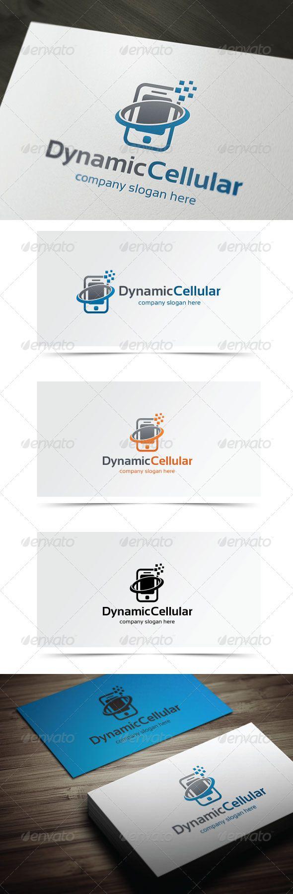 Dynamic Cellular Vector logo, Logo design template
