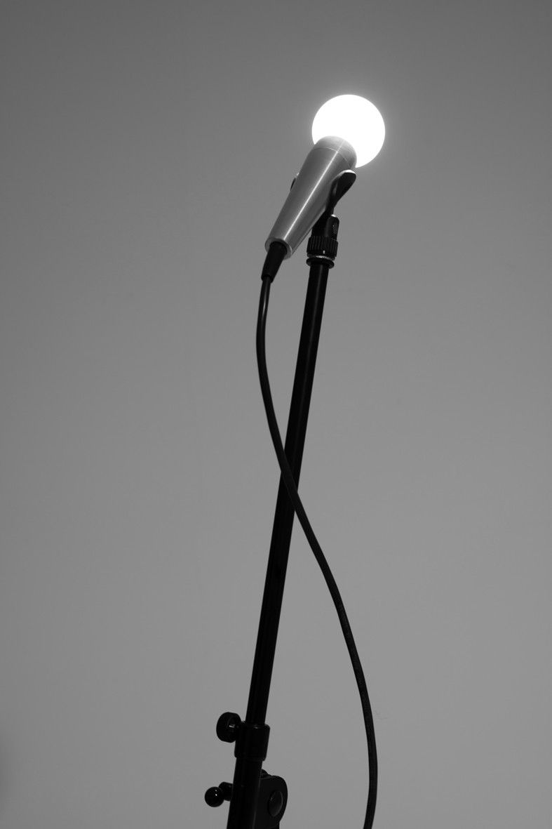 Microphone Lamp By Sarah Illenberger Aluminium 2 Watt Nano Led G9 Wiring A Earth 7 M Black Cable With Footswitch