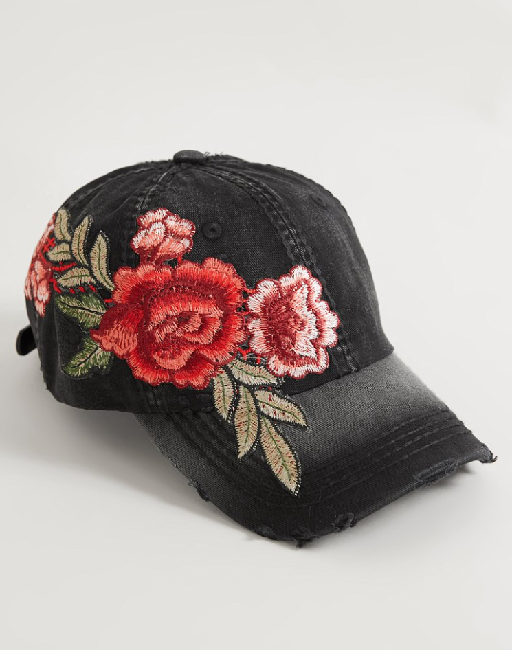 Cute Hats : Olive Pique Embroidered Hat | Buckle | Accessories