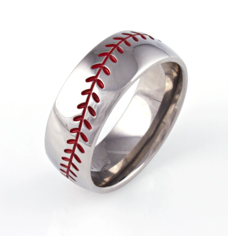 Baseball Wedding Band Baseball Wedding Ring Sports Wedding Ring Baseball Wedding