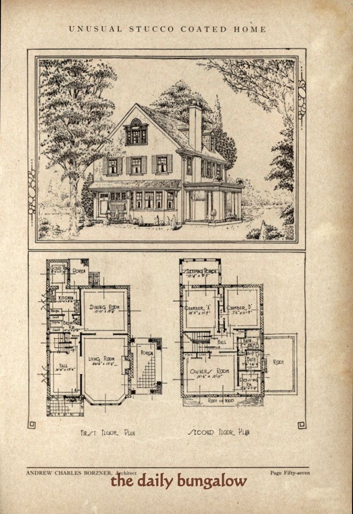 Andrew Charles Borzner 1928 Beautiful Homes Vintage House Plans Sims House Design Best House Plans