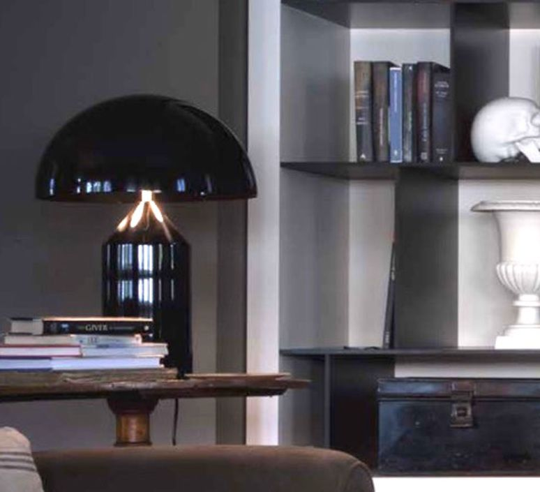 À Lampe Oluce PoserAtolloNoirH70cm 2019裝飾品 En l1J3TFKc