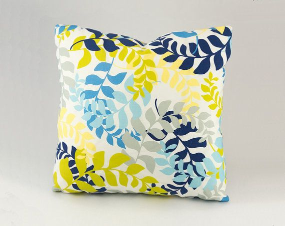 Awesome Navy Yellow Gray Green And Aqua Blue Decorative Pillow Cjindustries Chair Design For Home Cjindustriesco