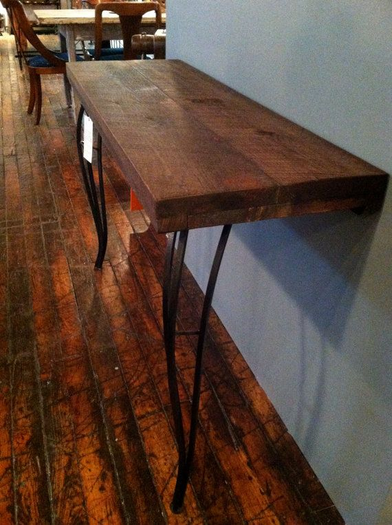 Rustic Modern Console Table Or Hall Table Made From By ReworxCT