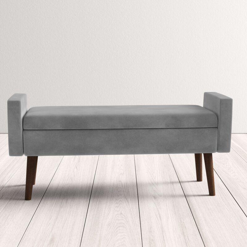Boley upholstered flip top storage bench in 2020 storage