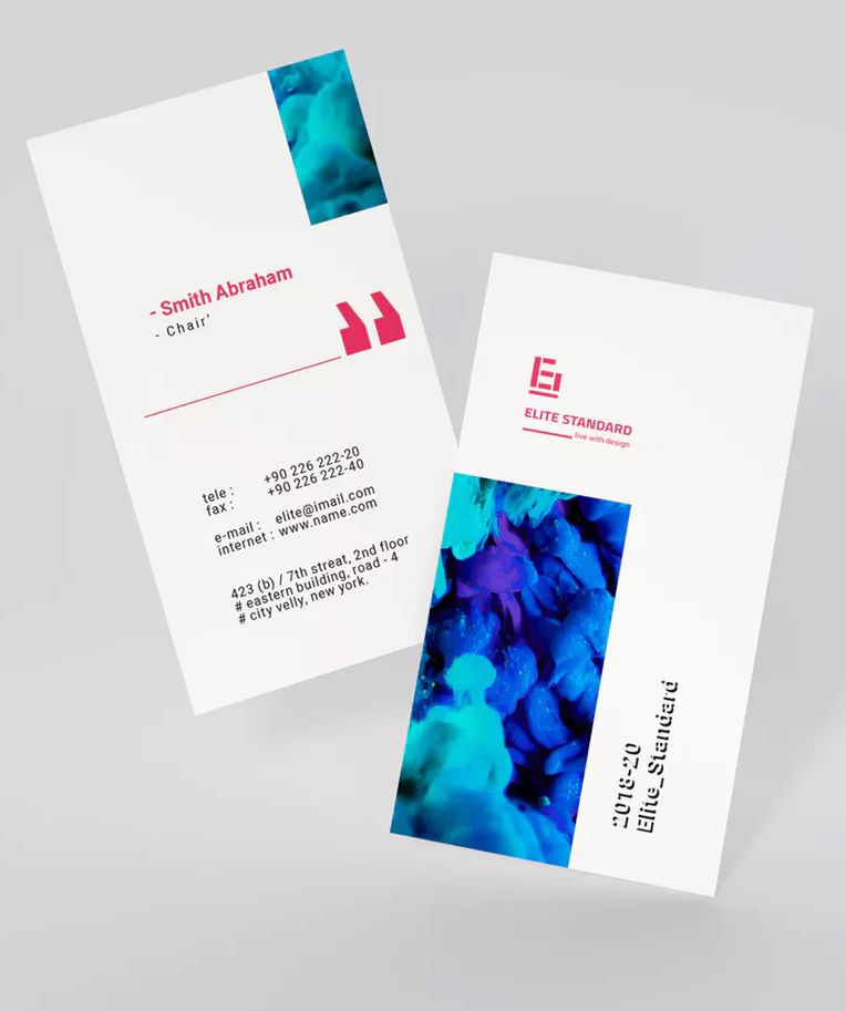 Studio Business Card By Ashuras Sharif On Envato Elements Business Card Template Business Card Graphic Cards