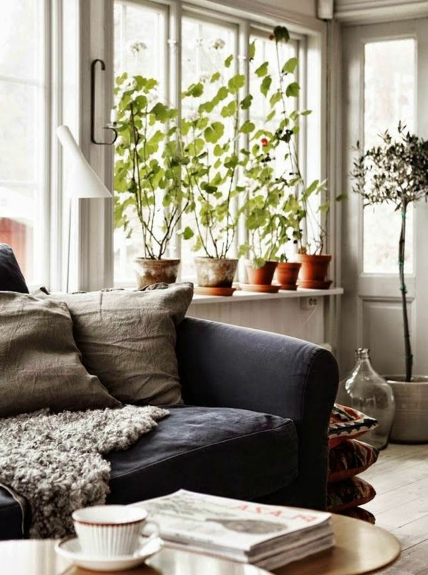 fensterbank deko schöne wohnideen wohnzimmer | Wohnzimmer ...