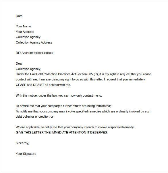 Cease And Desist Letter Sample