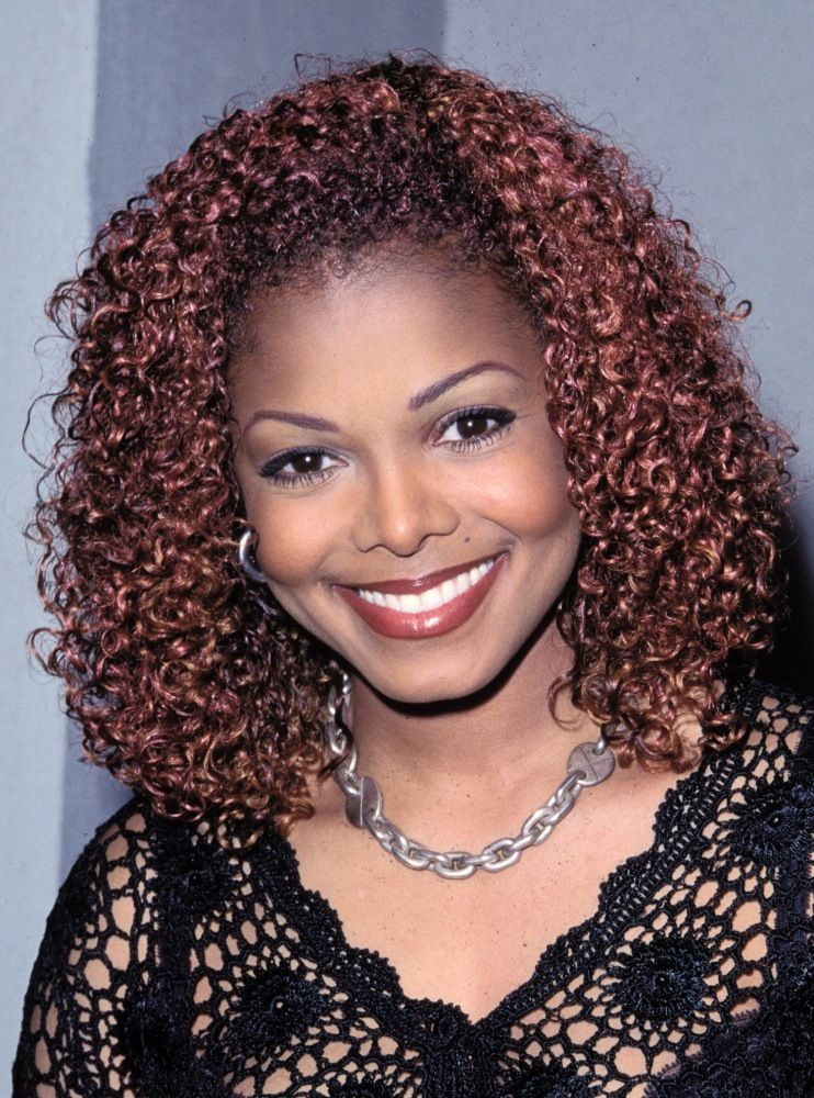 Red Hat And Loose Waves Who Wore It Better Janet Jackson Hair Color For Dark Skin Janet Jackson Velvet Rope