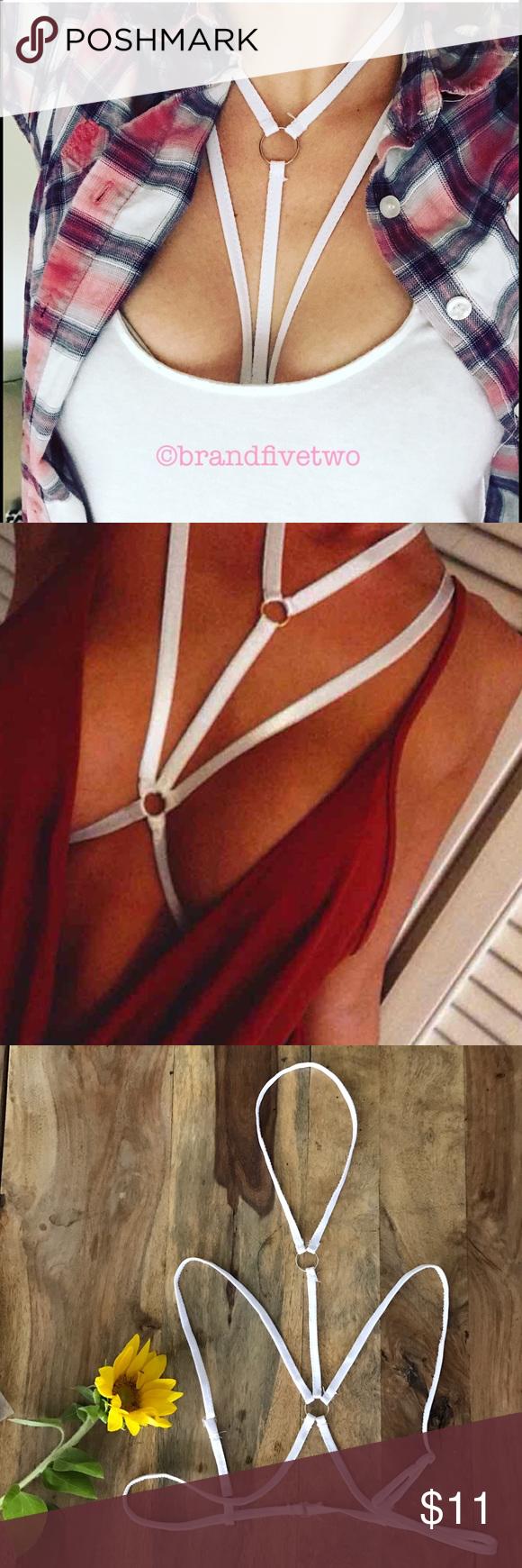 Sexy body harness in white Boutique   Nähmuster, Mode zum ...