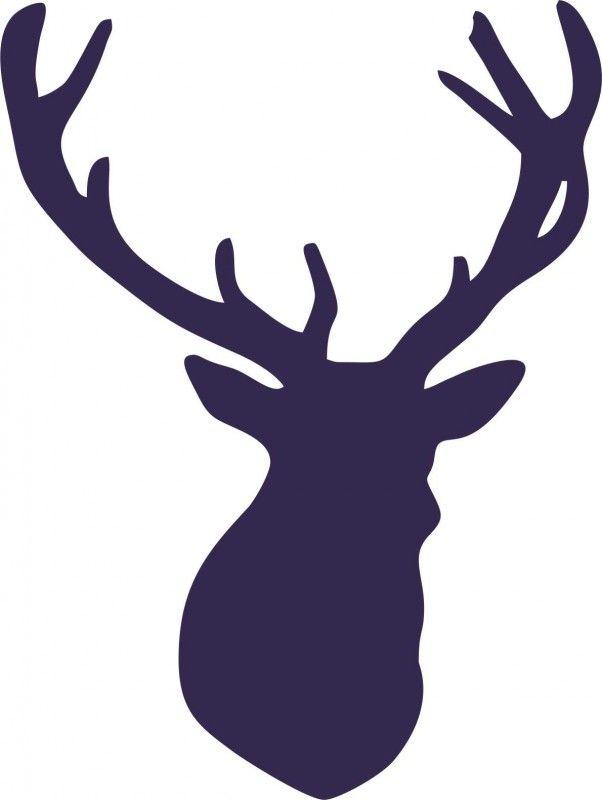 Hert met gewei voor op kussensloop winter christmas for Decoratie hertengewei