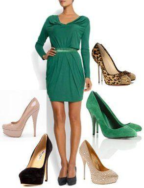 Zapatos para vestido verde turquesa