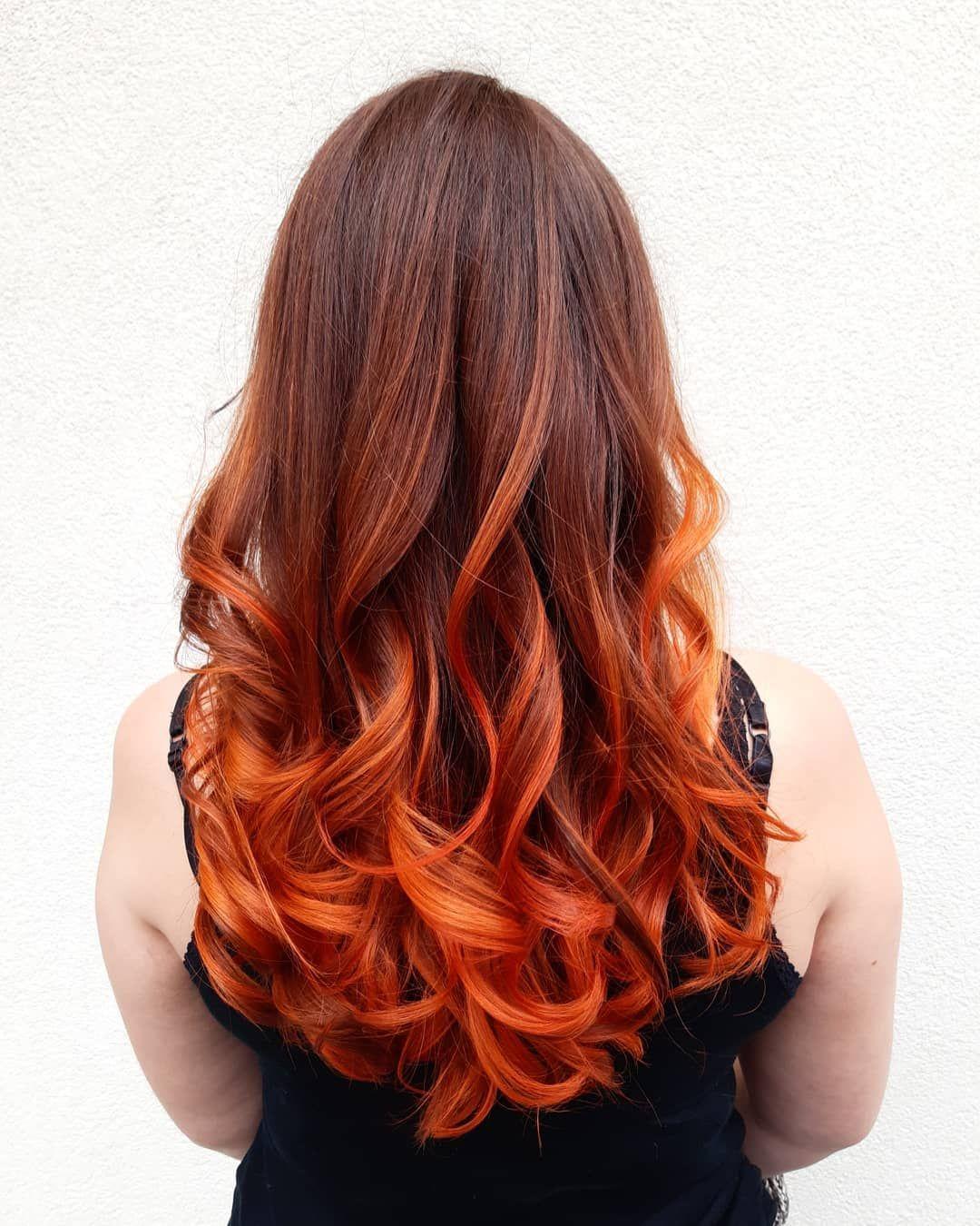 Copper Balayage Un Joli Chocolat Cuivre En Racines Qui Deviens Plus Intense En Pointes Ce Travail Short Hair Undercut Undercut Hairstyles Long Hair Styles