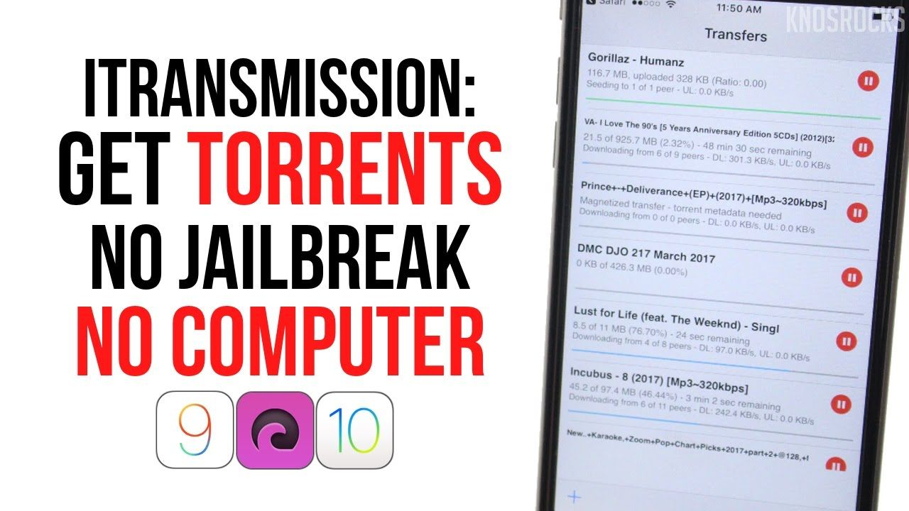 How To Download iTransmission iOS 10 3 1 - 10 / 9 Torrents