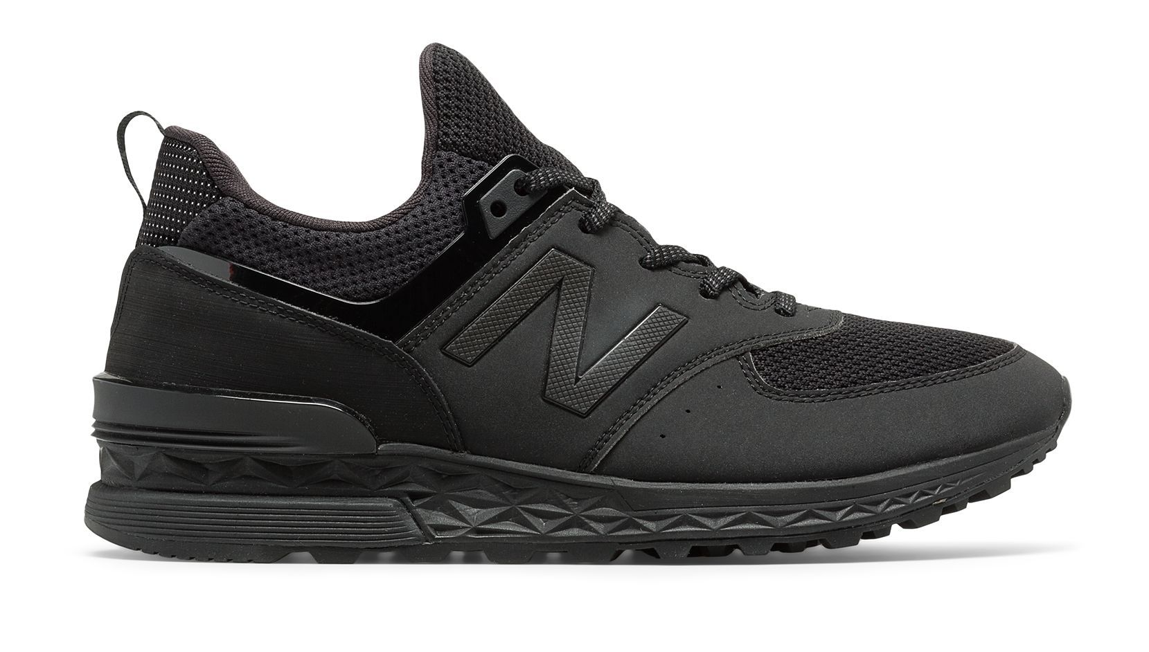 574 Sport, Black Black sports shoes
