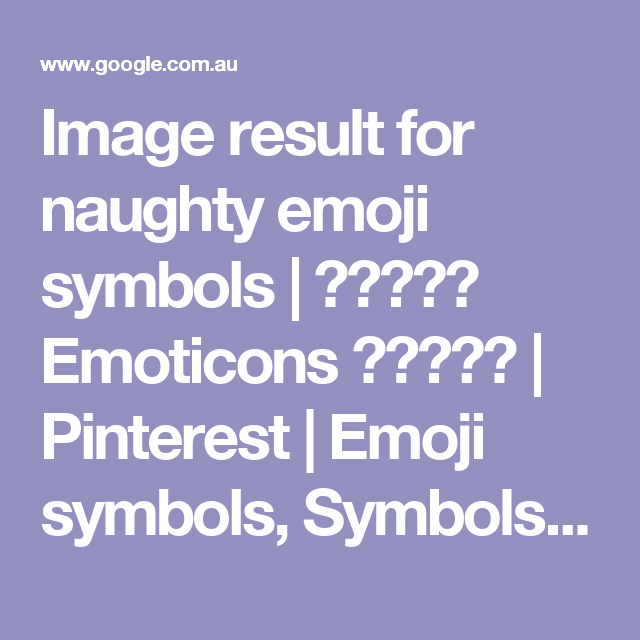 Image Result For Naughty Emoji Symbols Emoticons