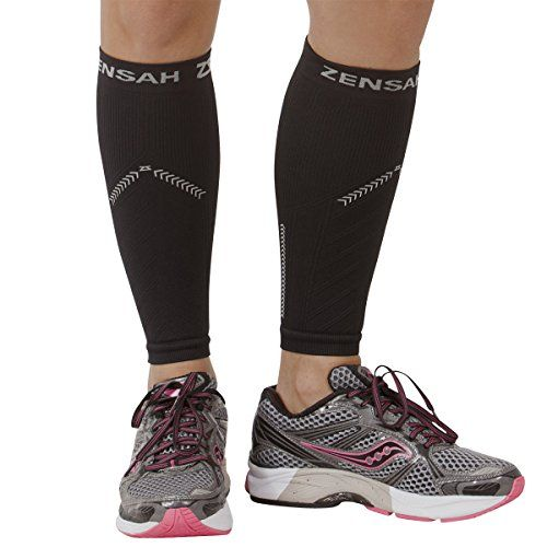 Zensah Reflective Compression Leg Sleeves - Best Night Running Gear - Relieve Shin Splints - Calf Sleeves for Running - Improve Visibility - http://golfforchampions.com/zensah-reflective-compression-leg-sleeves-best-night-running-gear-relieve-shin-splints-calf-sleeves-running-improve-visibility/