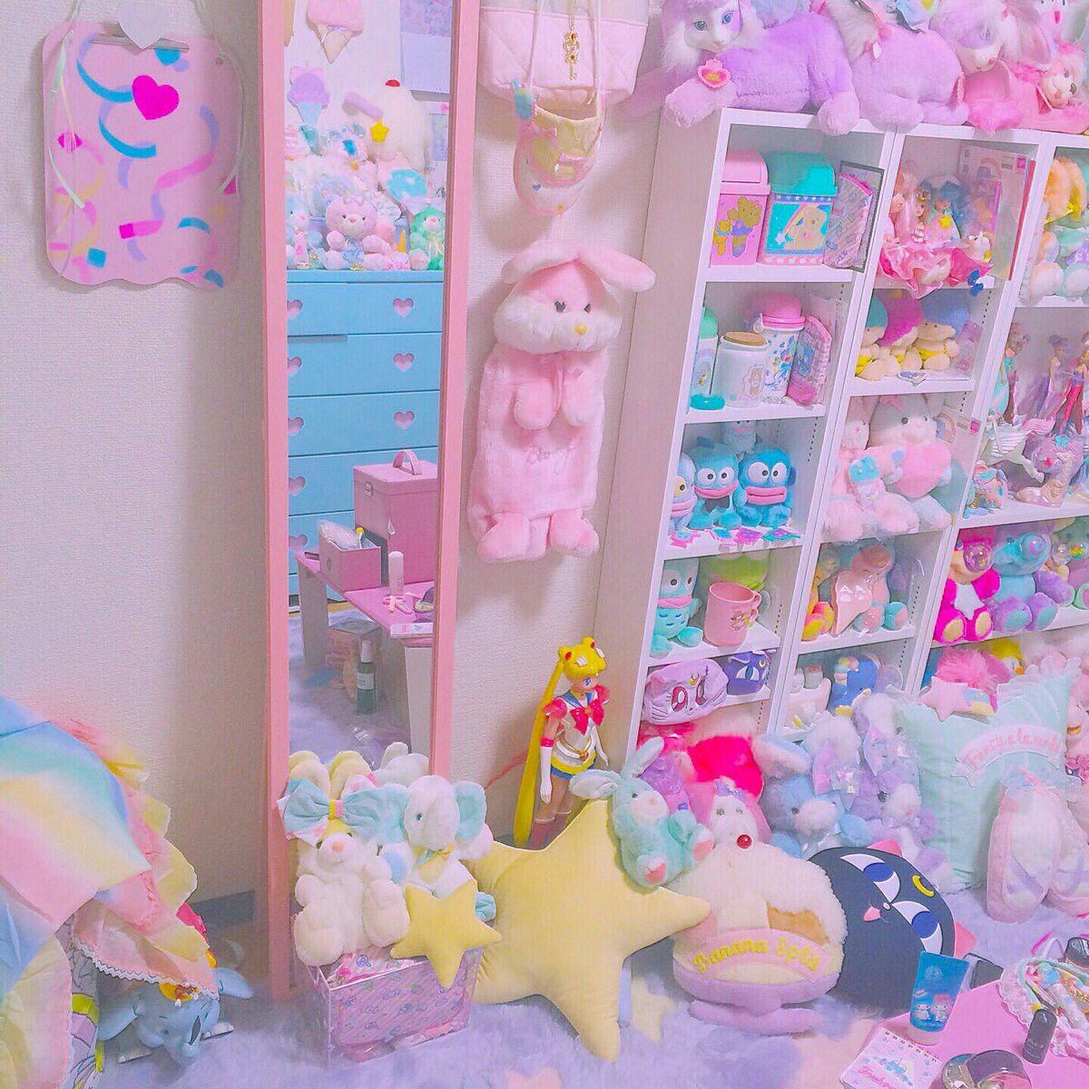 pinterest octwilight Kawaii room, Pink playroom, Otaku