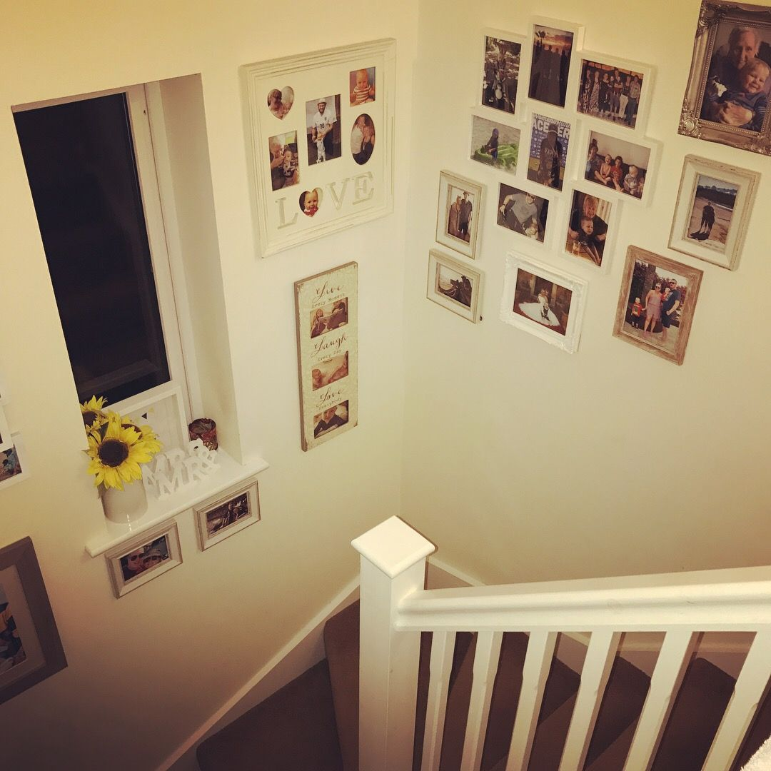 Picture Photo Gallery Wall for Family Photos #photos #familypictures ...