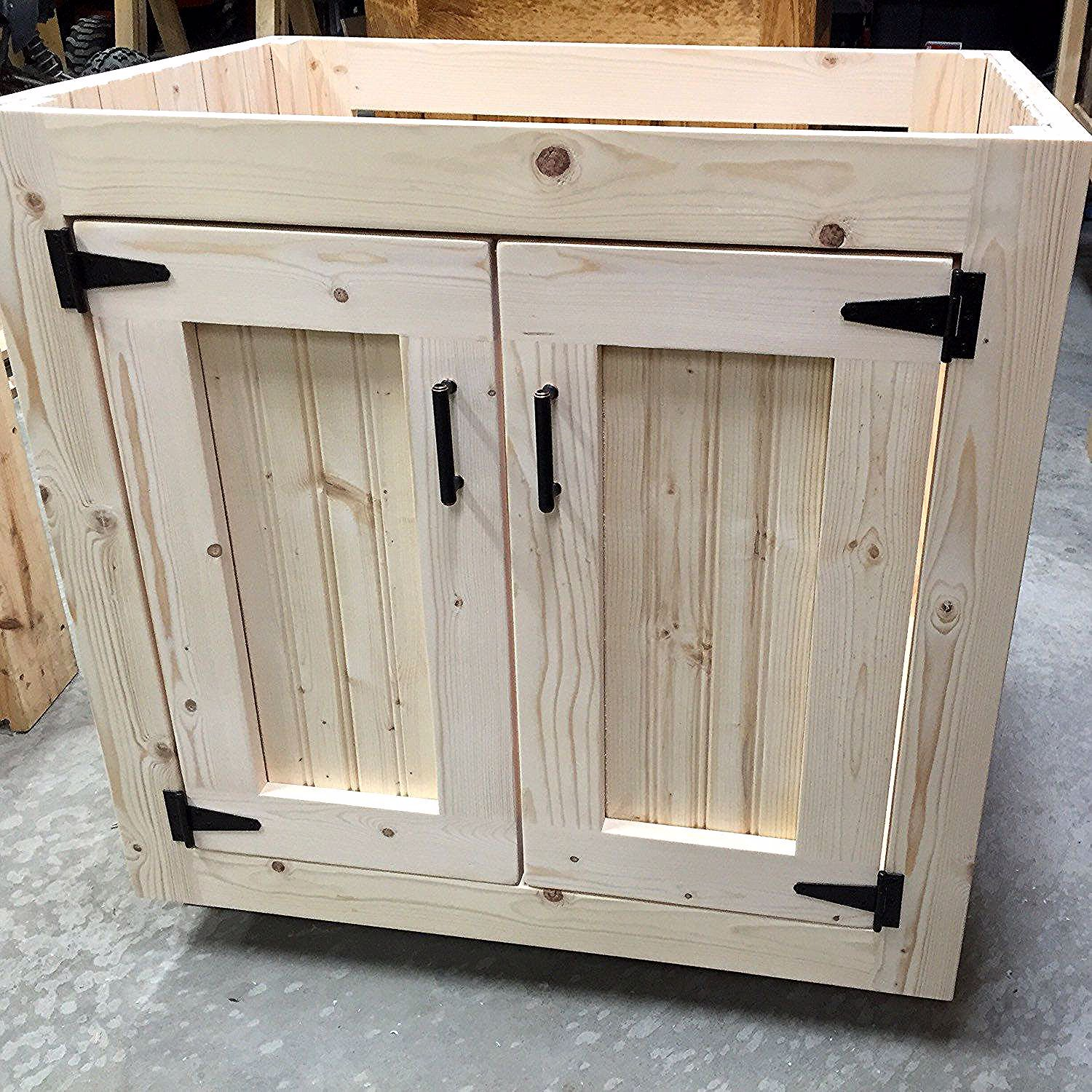 Just Shipped Out This Custom Beauty In 2020 Pallet Kitchen Cabinets Diy Kitchen Cabinets Diy Bathroom Vanity