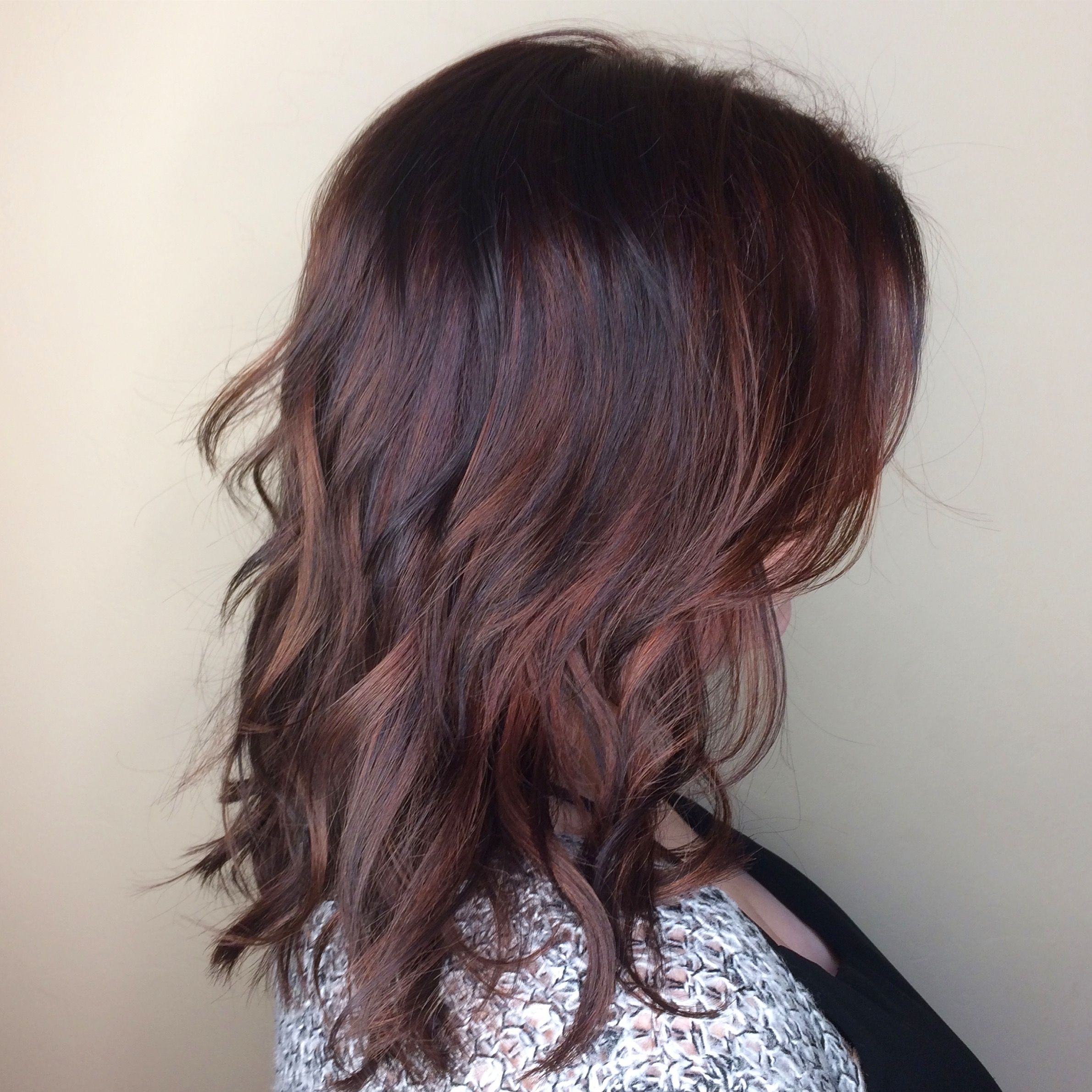 Rose Gold Hair Brunette Balayage