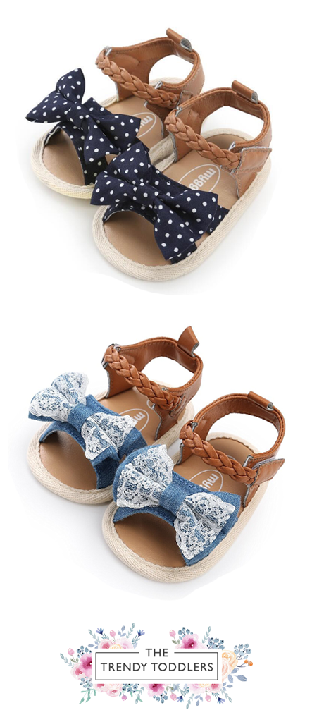 0da6c5dafaa817 Need a new pair of shoes  SALE 55% OFF + FREE SHIPPING! SHOP Our Bow Sandals  for Baby   Toddler Girls