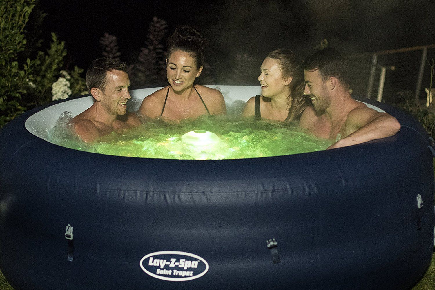 Lay-Z-Spa Saint Tropez Hot Tub Review Lay-Z-Spa is one of the ...