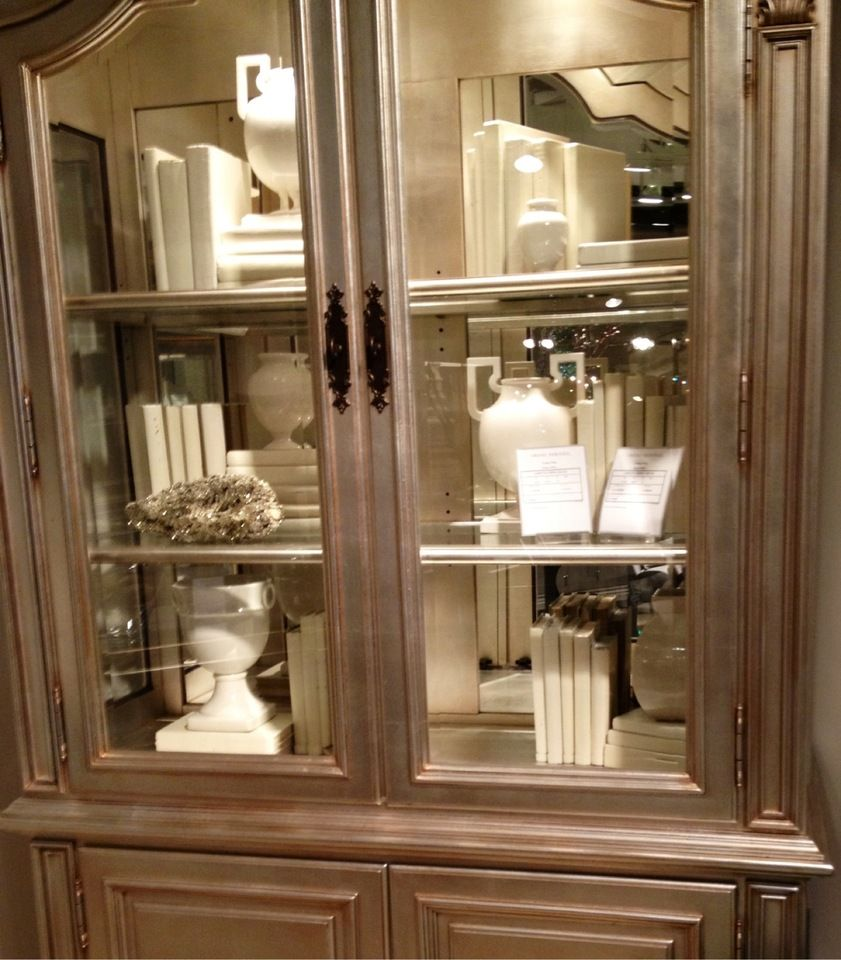 New ways to use old china cabinets! Use as a bookcase, and ...