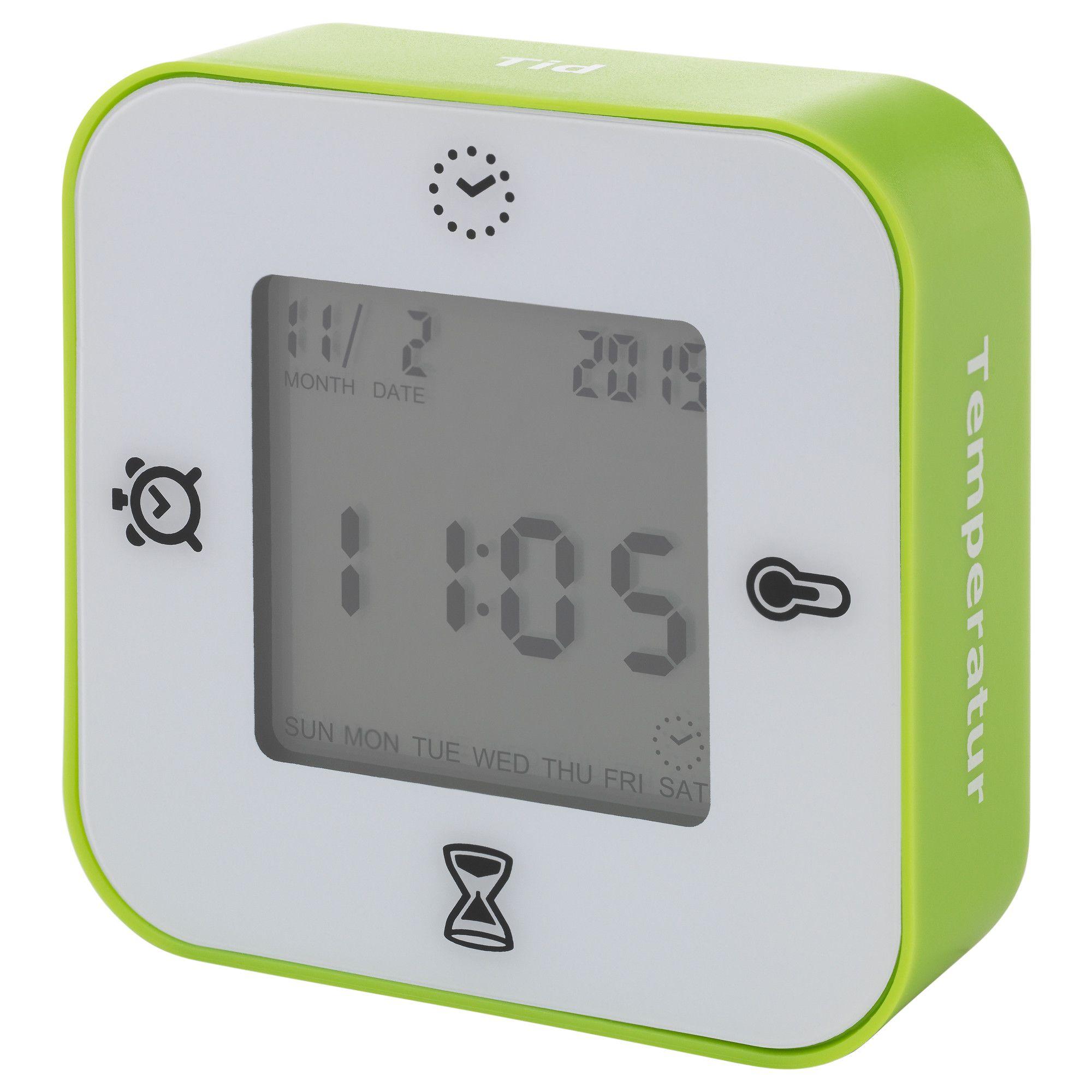 LÖTTORP, Uhr/Thermometer/Wecker/Timer, weiß/grün Jetzt bestellen ...