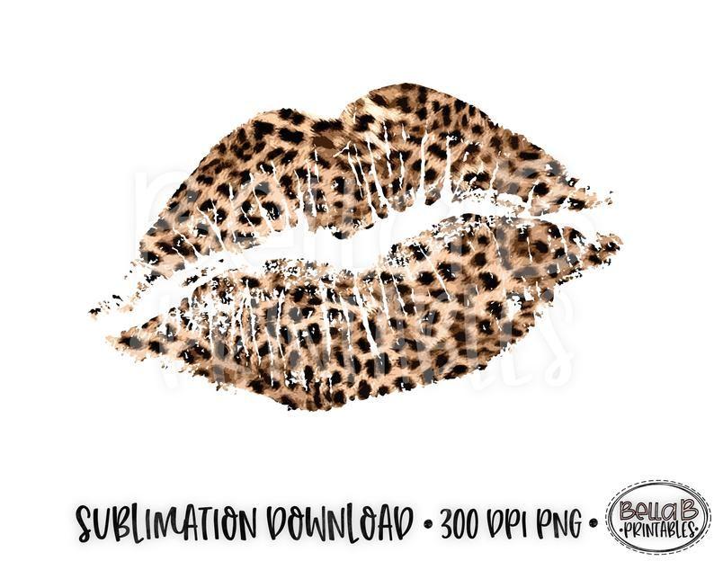 Leopard Print Lips Cheetah Print Lips Valentines Etsy Leopard Print Tattoos Cheetah Print Tattoos Leopard
