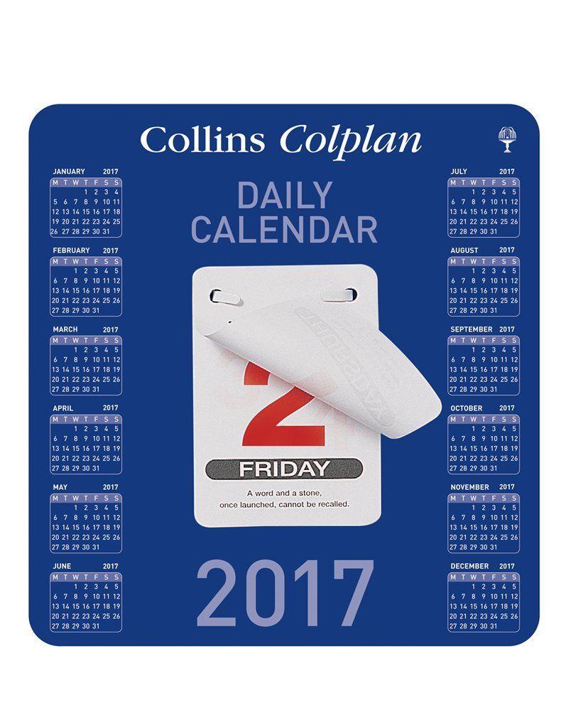 Collins Colplan 2017 Daily Block Desk Calendar: Amazon.co.uk ...