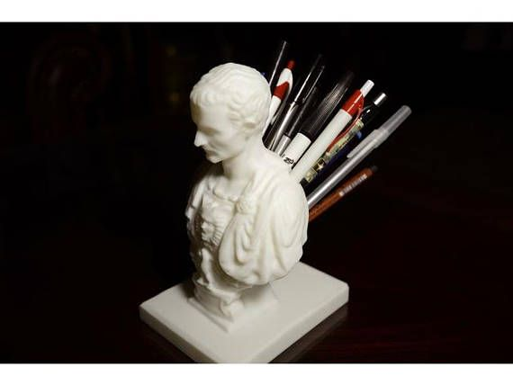 Julius Caesar Pencil Holder Classy Julius Caesar Pencil Holder  Pen Holder  Julius Caesar Sculpture Decorating Design