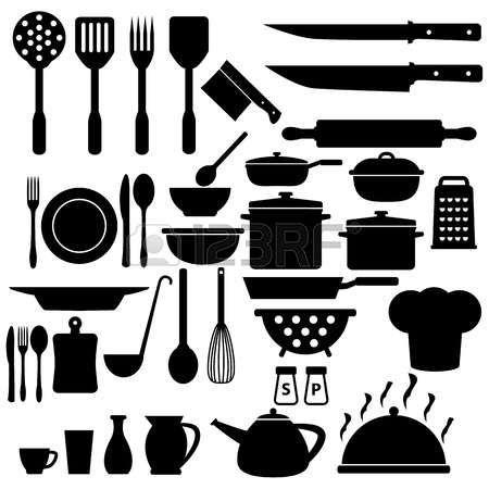 Dessin Ustensiles De Cuisine Cuisson Icons Set Quadrinhos