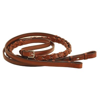 Tory Leather Plaited Reins with Hook /& Stud Ends