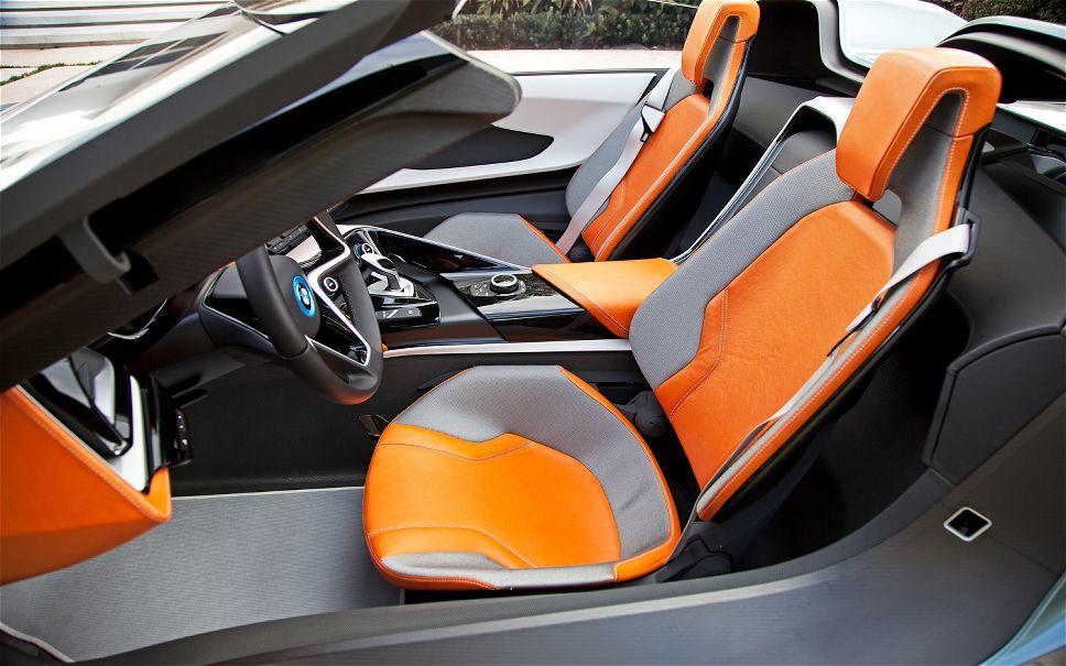 Futuristic Car Bmw I8 Concept Spyder Interior Seats Automotive