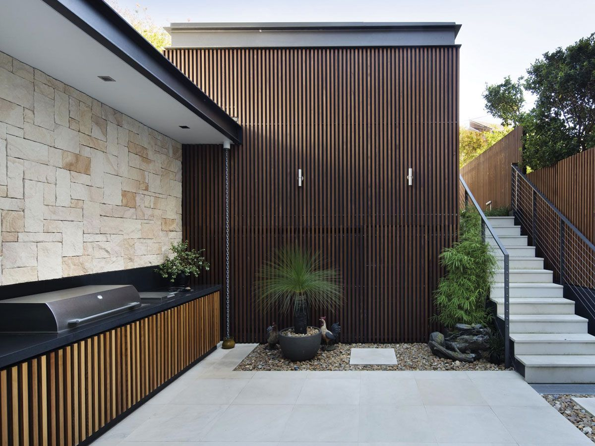 Outdoor living design with bbq area from a real australian home - Built In Bbq Area
