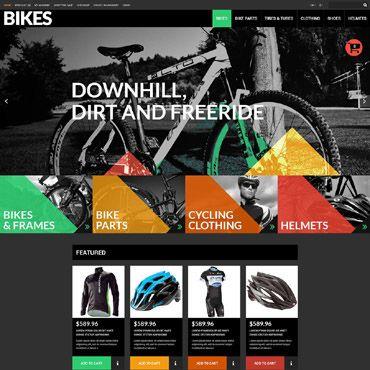 Example Of A Mountain Bike Shop Website Design You Can Make An