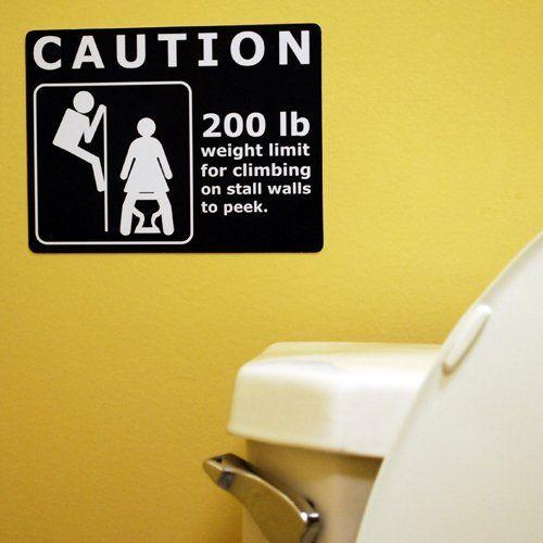 Bathroom Sign Prank prank sign - stall wallsbig mouth toys. $9.99. hang this sign