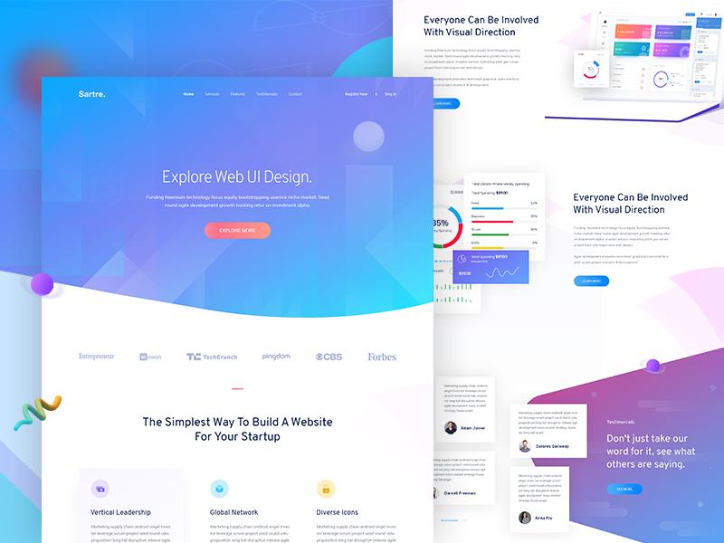 Creative Home Page Exploration 1 Minimalist Web Design Creative Web Design Web Design