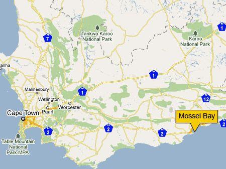 mapmosselbayjpg 450337 South Africa Pinterest South
