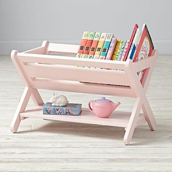 Little Sloane Leaning Bookcase Grey The Land Of Nod Kids
